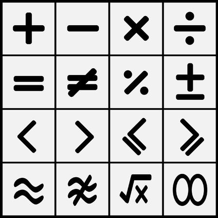 math symbols: math icons design set