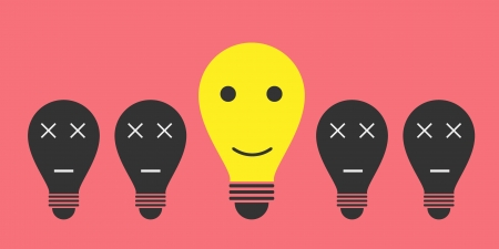bulb idea think smile
