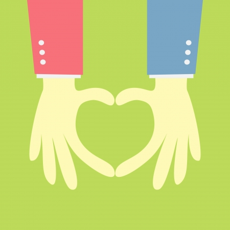 two hand showing heart shape