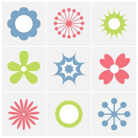 set of flower icon