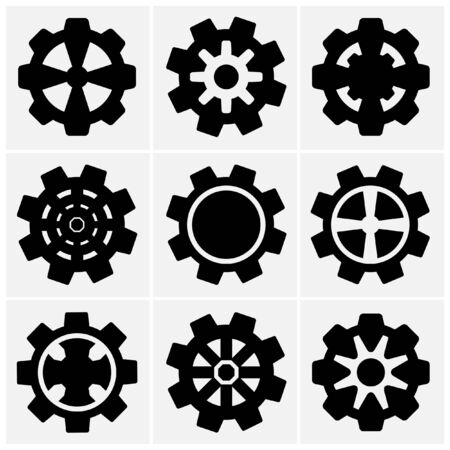 set of gear icon  Stock Vector - 21402538