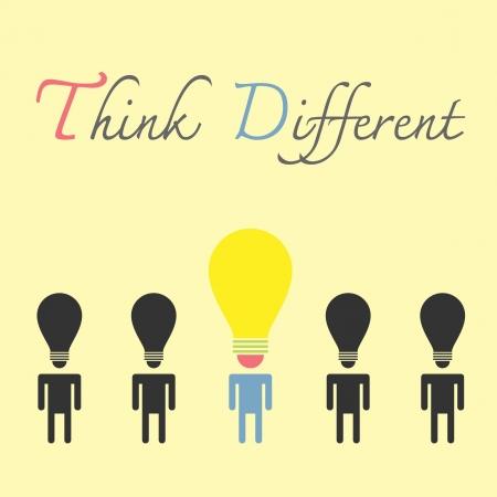 bulb head idea , think different
