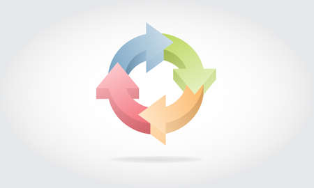 arrow circle loop design Stock Vector - 21697297