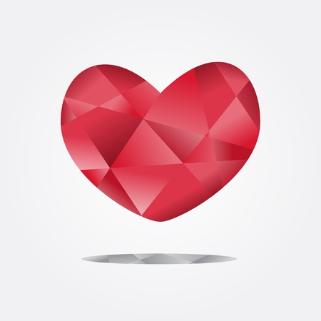 heart of cubist style  vector