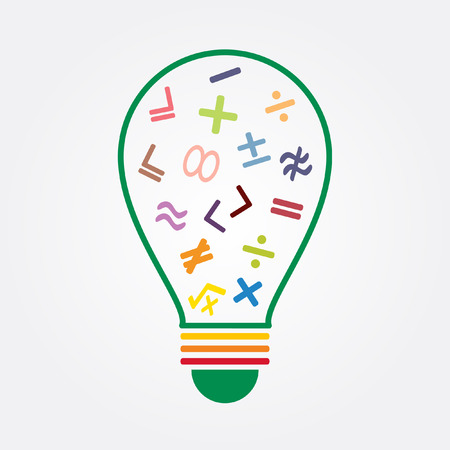 math symbol in idea bulb