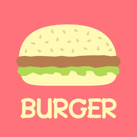 burger with text Vector
