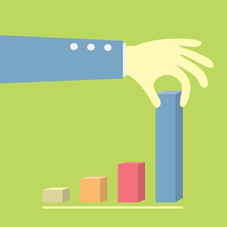 pull up: mano tirare su un grafico per una maggiore
