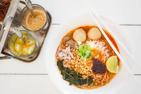 thicken: thai style pork spicy noodle soup