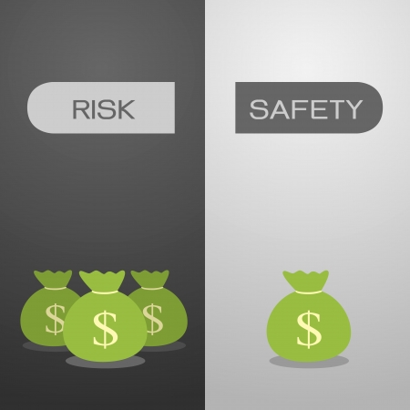 your choice risk or safety Stock Vector - 25125683