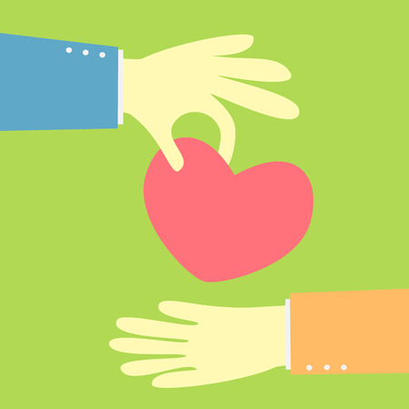 giving the finger: hand giving a heart vector