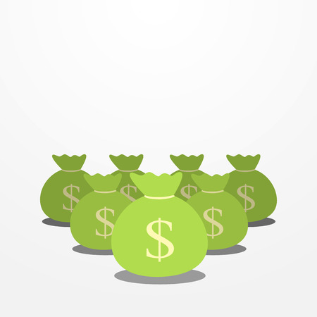 moneybag: group of moneybag