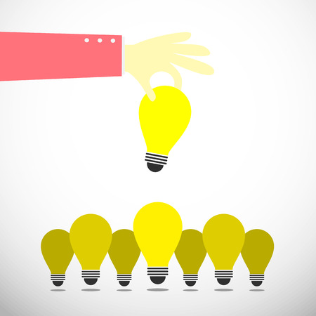 hand keep up bulb idea from idea group Vector