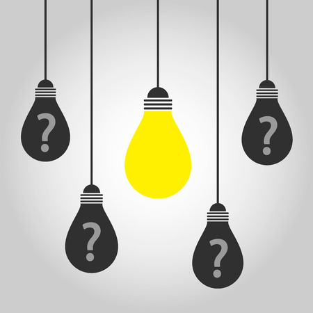 thinking question bulb Vector