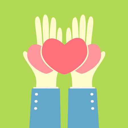 hand give group of heart