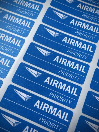 priority: airmail priority sticker background.