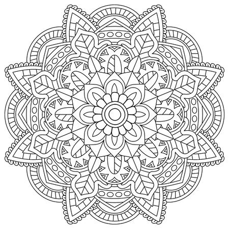 bloemenmandala voor kleurplaten