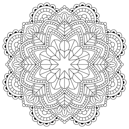 flower mandala for coloring pages