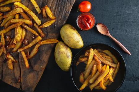 Cook fried potatoes