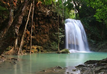 Arawanwaterfall in Kanchanaburi  Thailand photo