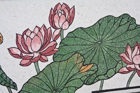 drawing lotus Stock Photo