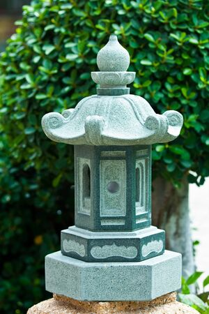 lamp made of stone: lamp,garden lamp