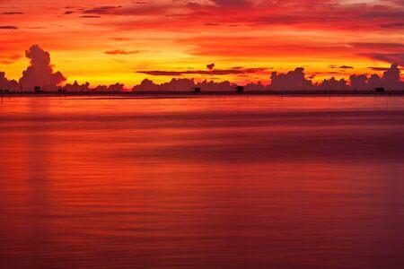 sky at sunset Stock Photo