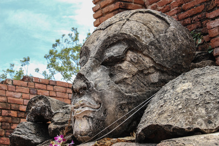 Buddha face, Phra Nakhon Si Ayutthaya , Thailand, photo
