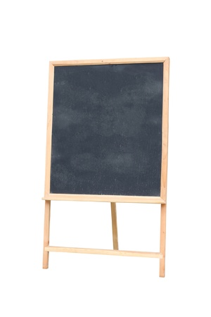 Empty board on white background photo
