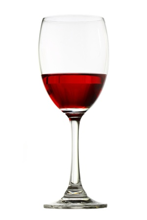 Vidrio de vino rojo aislado en blanco Foto de archivo - 15914426