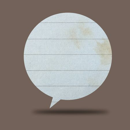Paper Speech Bubble photo