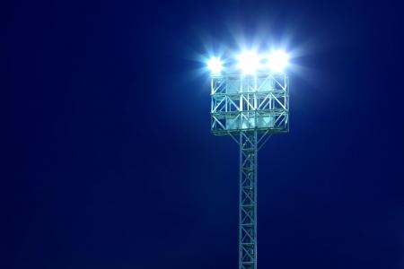 Stadium Spotlights At Night 免版税图像
