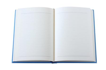 copertine libri: Soppressione il libro aperto isolato su bianco Archivio Fotografico