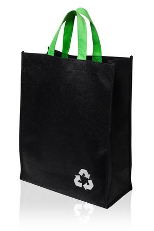 Tela de reciclaje bolsa de aislados en fondo blanco Foto de archivo - 27908852