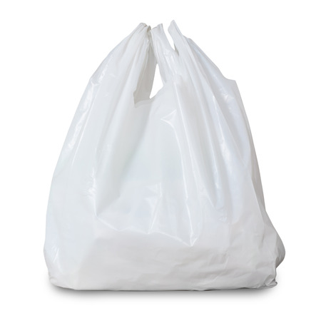 white plastic bag 免版税图像