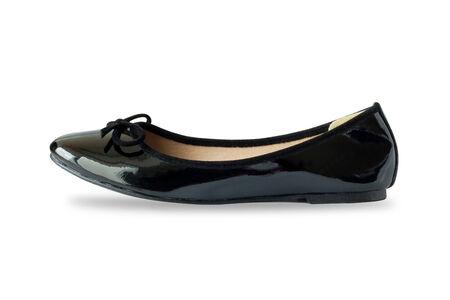 mujeres negras: Mujeres Negro zapatos aislados en el fondo blanco