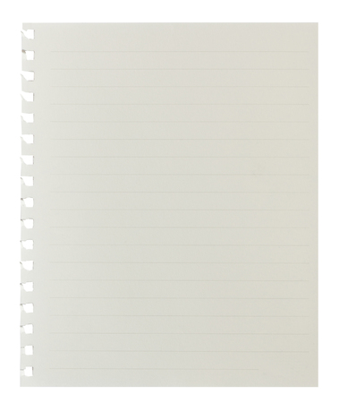 ruled paper: Blank Paper Sheet with Lined