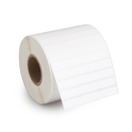 Roll of Tag Label Paper Sticking isolated on white