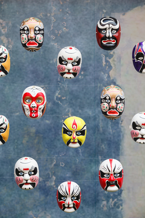 chinese opera: chinese traditional opera facial painting Editorial