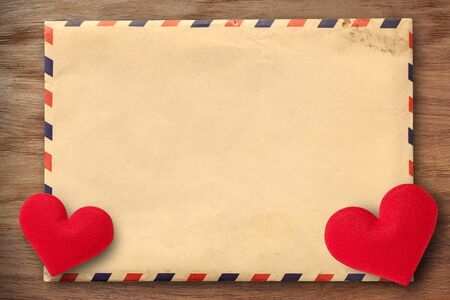 Vintage Valentine-themed envelope with heart icon