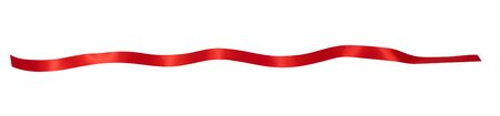 Red ribbon on white background Foto de archivo - 129560095
