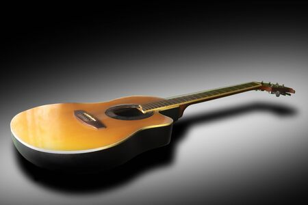 Creative creativity guitar Black or white background