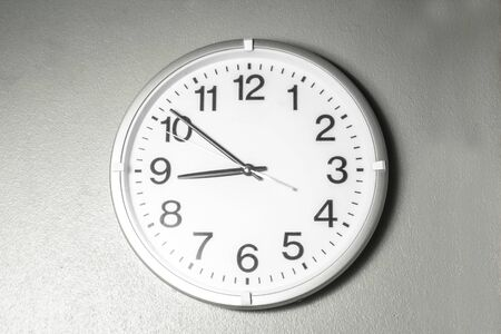 Black and white tone number wall clock
