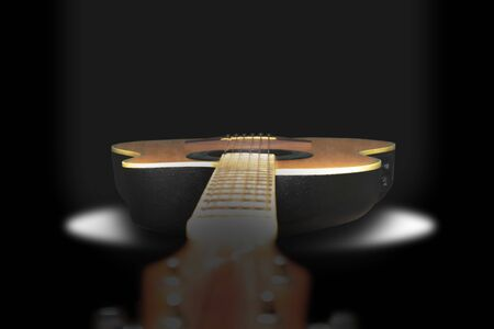 Creative creativity guitar Black or white background