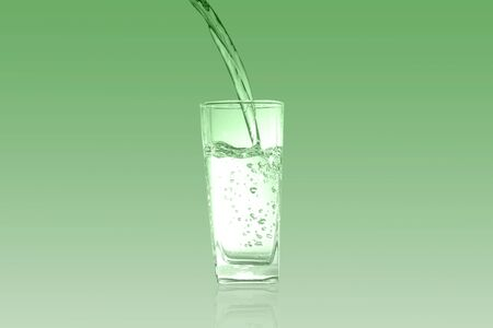 Glass of chlorophyll Green tone
