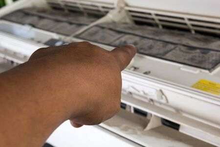 Dirty air conditioner May be used for a long time
