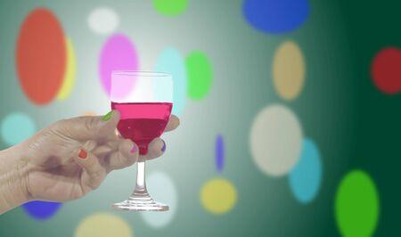 Hand held wine glass  Organize a celebration  Party