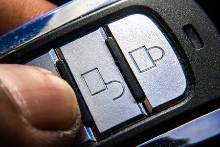 Remote Car Burglar Alarm macro Stock fotó