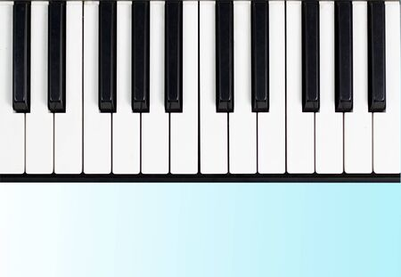 piano  White background, blank key