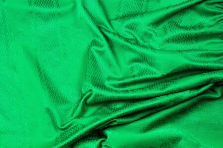 Green cloth blank with stripes on the ground