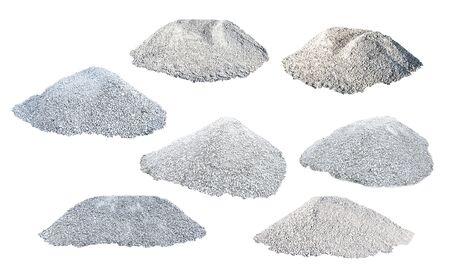 White background of sand heap